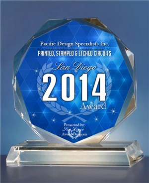 2014 San Diego Award Printed, Stamped & Etched Circuits